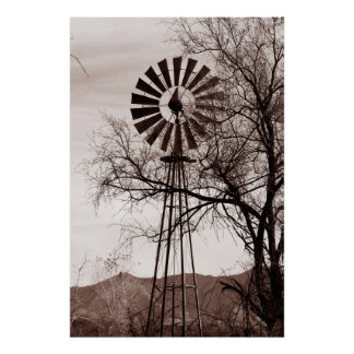 Arizona Windmill Poster
