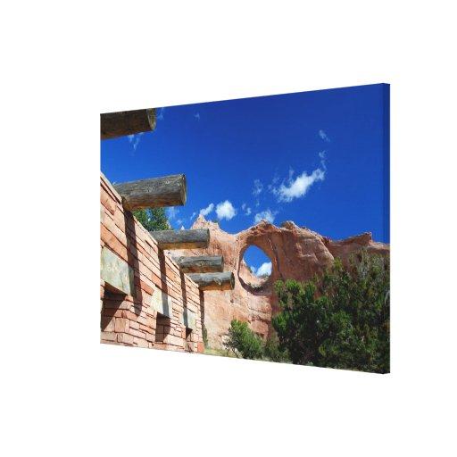 Arizona, Window Rock. Capital of the Navajo Stretched Canvas Print