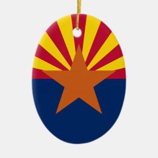 Arizona's Flag Christmas Ornament