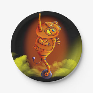"ARJA MONSTER CARTOON ROBOT  Paper Plates 7"" 7 Inch Paper Plate"