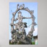 Arjuna Statue Poster