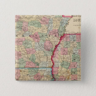 Ark, Miss, La Map by Mitchell 15 Cm Square Badge