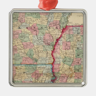 Ark, Miss, La Map by Mitchell Christmas Ornament