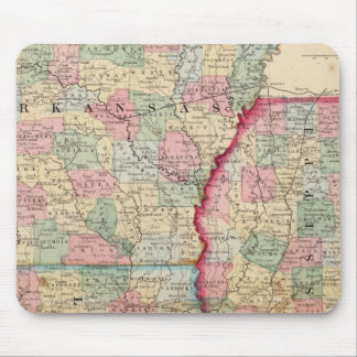 Ark, Miss, La Map by Mitchell Mouse Mat