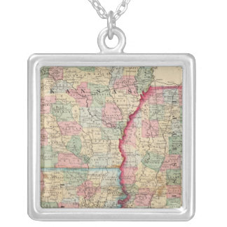 Ark, Miss, La Map by Mitchell Silver Plated Necklace