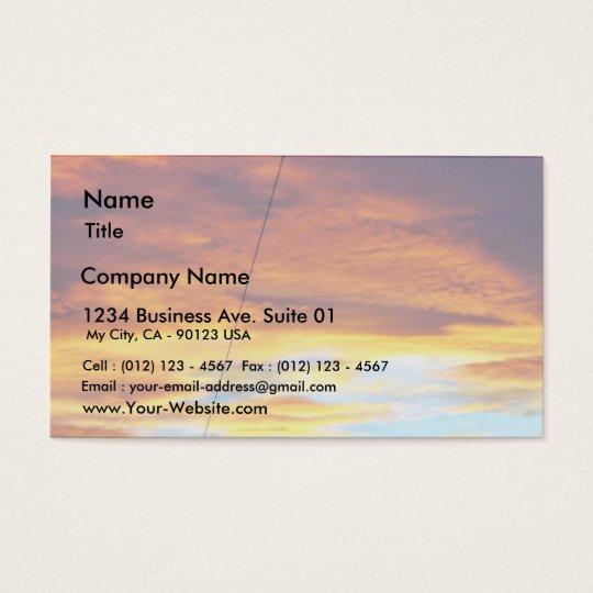 Ark Orange Sky At Sunset Business Card