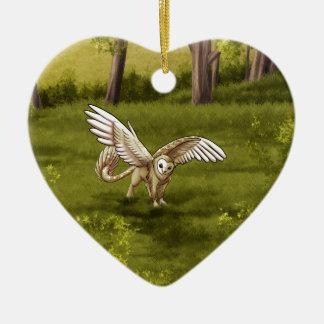 Arkaen - Barn Owl Gryphon Christmas Ornament