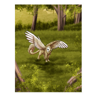 Arkaen - Barn Owl Gryphon Postcard