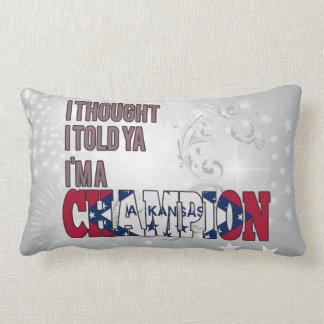Arkansan and a Champion Pillows