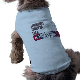 Arkansan and a Champion Dog T-shirt