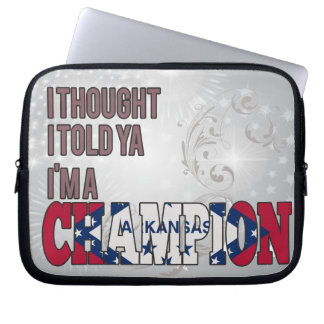 Arkansan and a Champion Laptop Sleeves