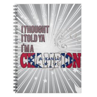 Arkansan and a Champion Spiral Notebooks