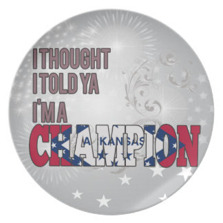 Arkansan and a Champion Party Plates