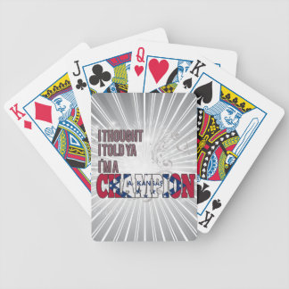 Arkansan and a Champion Playing Cards