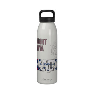 Arkansan and a Champion Reusable Water Bottle