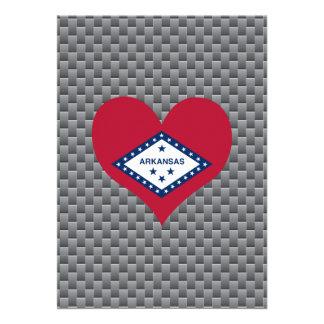 Arkansan Flag on a cloudy background 13 Cm X 18 Cm Invitation Card