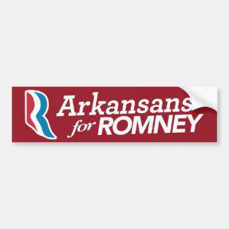 Arkansans For Romney Bumper Sticker CUSTOM COLOR