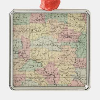 Arkansas 3 Silver-Colored square decoration