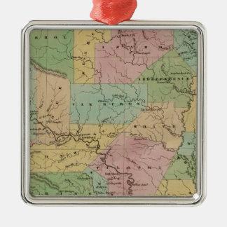 Arkansas 4 Silver-Colored square decoration