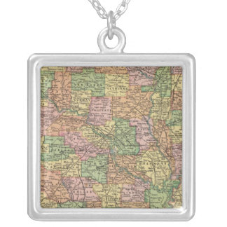 Arkansas 4 silver plated necklace