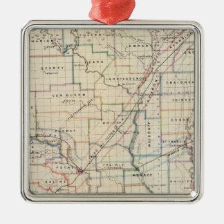 Arkansas 5 christmas ornament