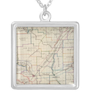 Arkansas 5 silver plated necklace