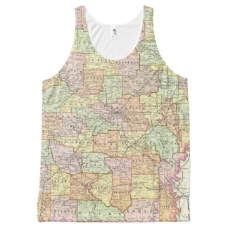 Arkansas 6 All-Over print tank top