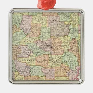 Arkansas 6 Silver-Colored square decoration