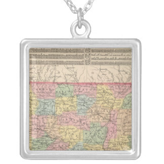 Arkansas 6 silver plated necklace