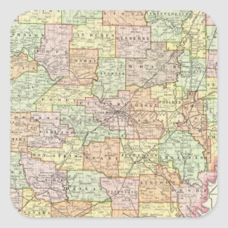 Arkansas 6 square sticker