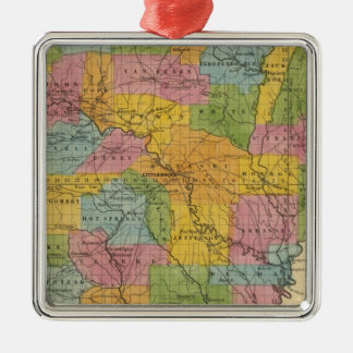 Arkansas 7 Silver-Colored square decoration
