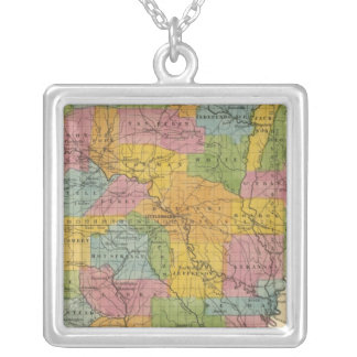 Arkansas 7 silver plated necklace