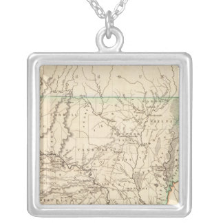 Arkansas 8 silver plated necklace