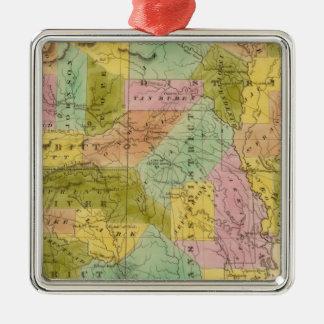 Arkansas 9 Silver-Colored square decoration