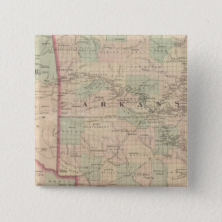 Arkansas and portion of Indian Territory 15 Cm Square Badge