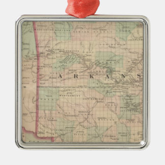 Arkansas and portion of Indian Territory Christmas Ornament