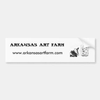 ARKANSAS ART FARM Cow bumper sticker Car Bumper Sticker