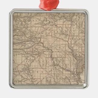 Arkansas Atlas Map Christmas Ornament