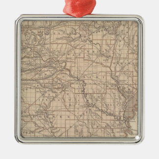 Arkansas Atlas Map Silver-Colored Square Decoration