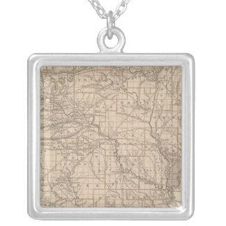Arkansas Atlas Map Silver Plated Necklace