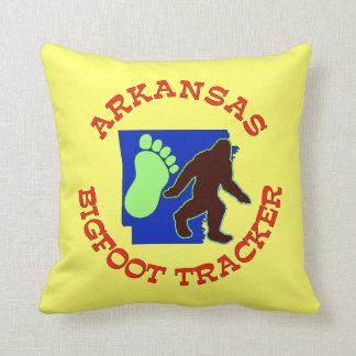 Arkansas Bigfoot Tracker Throw Pillow