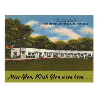 Arkansas, Central Court Postcard