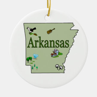 Arkansas Christmas Tree Ornament
