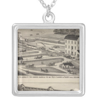 Arkansas City Roller Mill County, Kansas Silver Plated Necklace