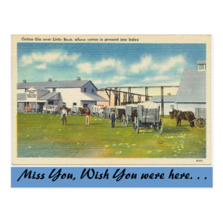 Arkansas, Cotton Gin Postcard