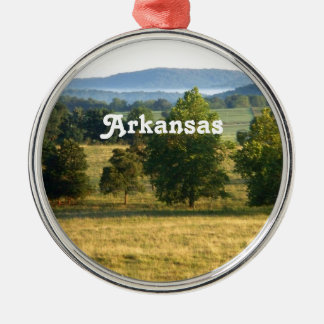 Arkansas Countryside Silver-Colored Round Decoration