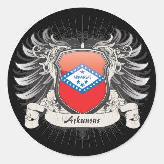 Arkansas Crest Classic Round Sticker