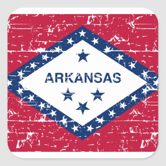 Arkansas Designs Square Sticker
