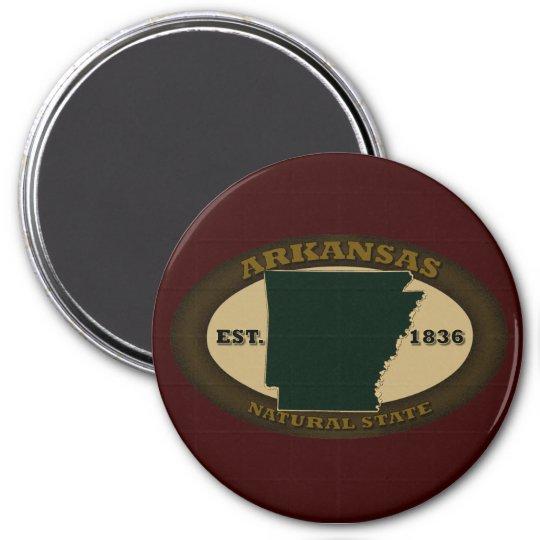 Arkansas Est. 1836 7.5 Cm Round Magnet