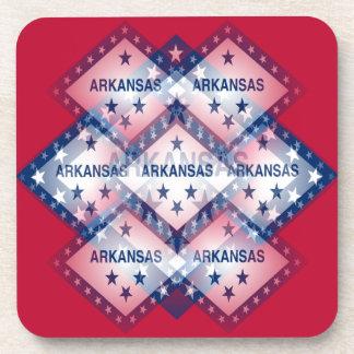 Arkansas Flag Abstract Beverage Coaster